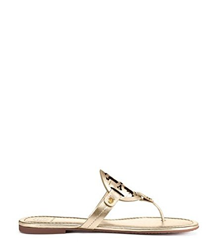 Tory Burch Miller Metallic Sandal Womens (9.5, Spark Gold)