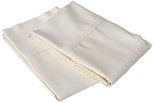 Veratex Luxurious Contemporary Style 100  Micro Tencel Fabric Made In The Usa 600 Thread Count Elegant Pillowcase Pair  Standard  Ivory