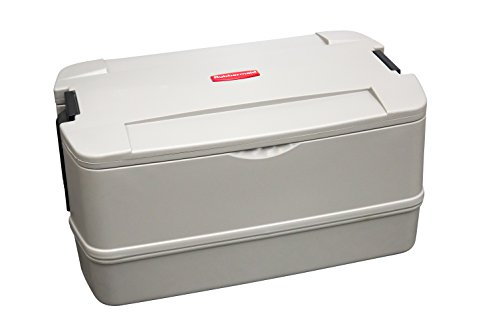 Rubbermaid Commercial Products FG940700PLAT CaterMax 50 Insulated Food Service Pan Carrier, 55 quart, Platinum