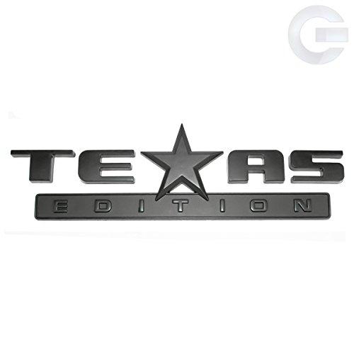Matte Black Texas Edition Truck Emblem Badge Chevy GMC
