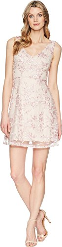 Adrianna Papell A-Line Short Dress Pink 6