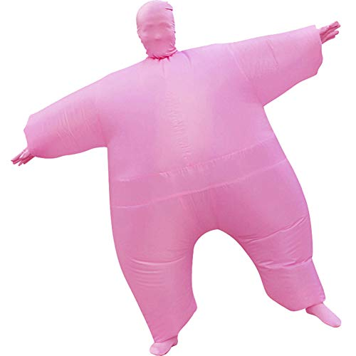 HUAYUARTS Inflatable Full Body Suit Costume Adult Funny Cosplay Cloth Party Toy Gift for Halloween Christmas, Free Size, Pink]()