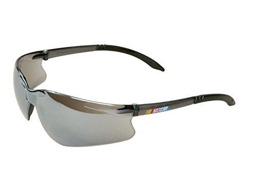 OKSLO Encon Wraparound NASCAR GT Safety Glasses, Silver Mirror Lens, Gray Frame ()