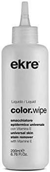 Quitamanchas para teñir el cabello Epidérmico Color Wipe 250 ml para eliminar el color del tinte de la piel o vestido Ekre