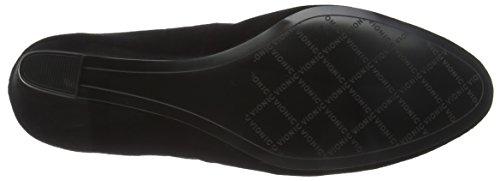 VIONIC Womens Lux Camden Suede Shoes Black (Black Suede)