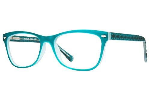 Lunettos Georgia Womens Eyeglass Frames - Teal - Glasses Teal Frames