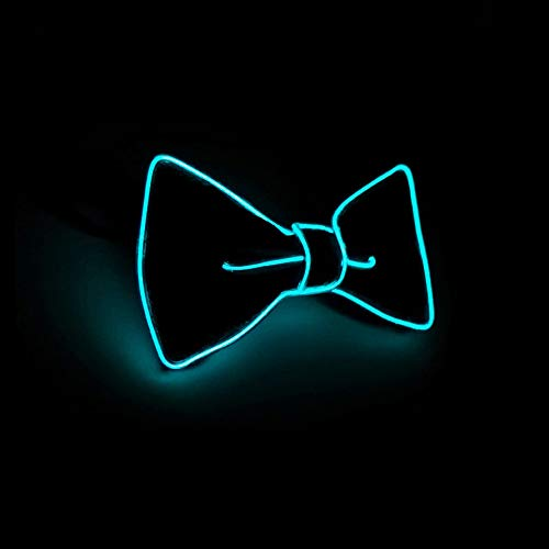 Suncentech Luminous LED Bow Tie Adjustable Flashing LED Light Up Bow Tie, Novelty Party Favor Glowing Tie