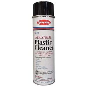 Sprayway SW848 Aerosol Plastic Cleaner, 19 oz