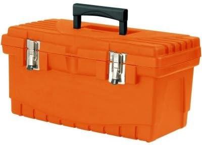 Keter 19 pulgadas Caja de herramientas de plástico con cierres de metal y bandeja de herramientas y mango extraíble: Amazon.es: Bricolaje y herramientas