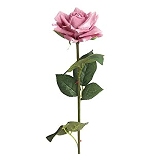 Pausseo Artificial Flowers,Flannel Rose Flowers Arrangements Wedding Bouquets Decorations Plastic Floral Table Centerpieces Home Kitchen Garden Party Déco 14