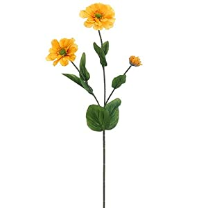 "25"" Zinnia Spray Gold Yellow (pack of 12) 47"