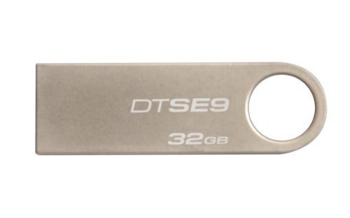 Kingston Digital DataTraveler SE9 32GB USB 2.0 Flash Drive, Silver (DTSE9H/32GBZET)