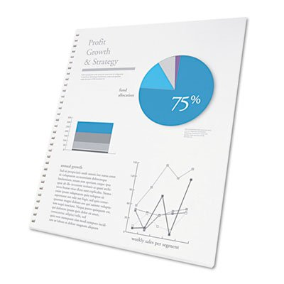Swingline GBC ProClick Presentation Paper, 8-1/2 x 11, White, 250 (Proclick Presentation Paper)