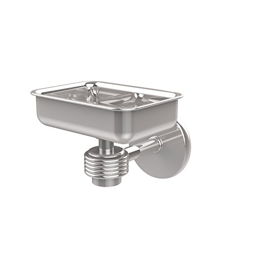 - Allied Brass 7132G-PC Satellite Orbit One Wall Mounted Soap Dish with Groovy Accents Polished Chrome