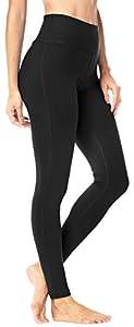Queenie Ke Women Power Flex Yoga Pants Workout Running Leggings Size S Color Midnight Black Long