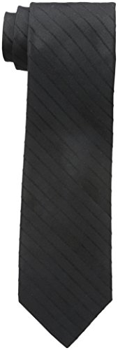 Van Heusen Men's Solid Tie, Black, One Size ()