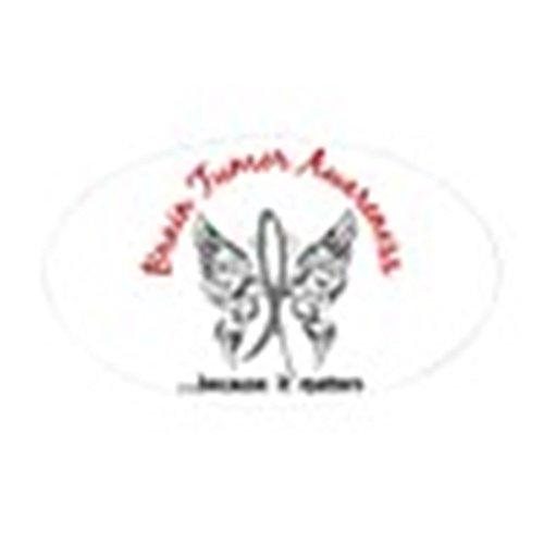 CafePress Brain Tumor Butterfly 6.1 Oval Bumper Sticker, Euro Oval Car Decal ()