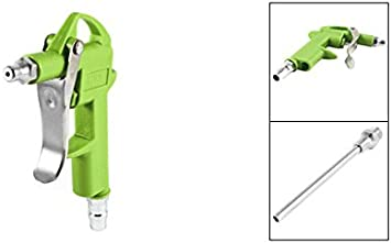 Green Metal Air Duster Blowing Gun Blower Cleaning Tool 11mm Connector