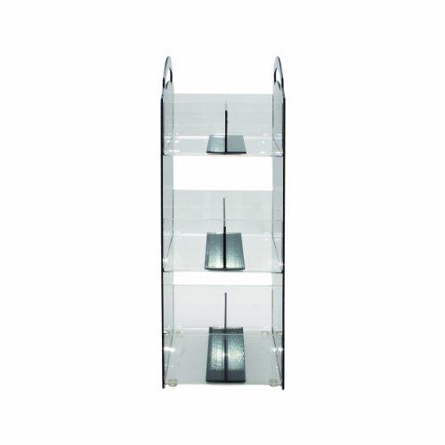 Vertiflex Condiment Organizer - Vertiflex Compact Condiment Organizer, 3 Shelves, 6 Compartments, 6-1/8 x 8 x 18 Inches, Black (VFCT-18)