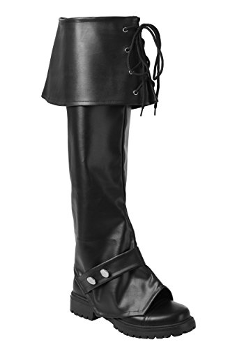 [Fun Costumes Deluxe Vinyl Boot Tops Standard] (Pirate Costumes Boot Covers)