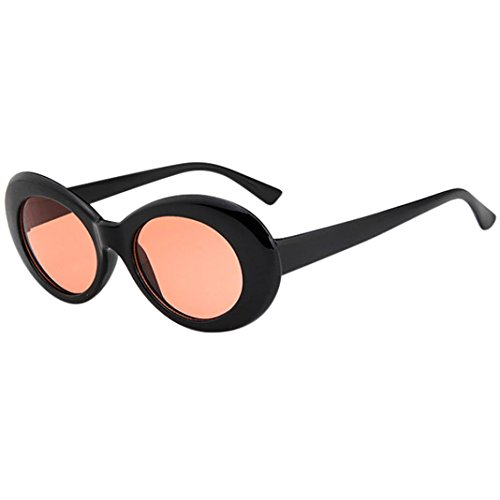 Women Sunglasses, Limsea Retro Vintage Clout Goggles Unisex Sunglasses Rapper Oval Shades Grunge Glasses (G)