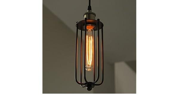 Ding Vintage Industrial Tubular jaula 1 lámpara de techo ...