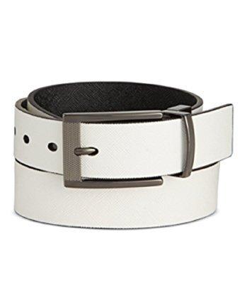 Alfani Men's Cut-Edge Saffiano-Texture Reversible Belt (Alfani Belt)