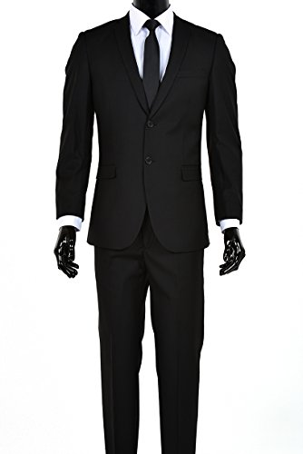 Lined Two Button Suit - 3