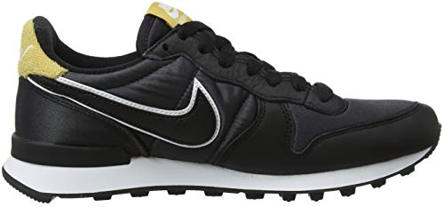 Gold Internationalist de Black Negro Mujer Wheat para Gimnasia 001 Zapatillas W Nike Black Heat 4qaw5766