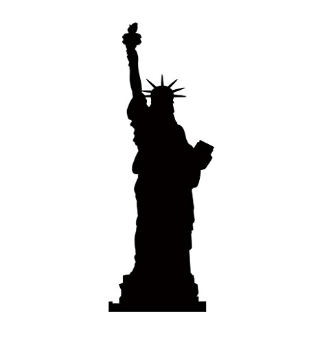 Statue Of Liberty Silhouette - Advanced Graphics Life Size Cardboard - Lady Liberty Silhouette