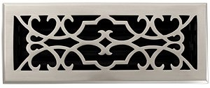- Brass Elegans 120E PWT Solid Cast Brass Victorian 4-Inch by 12-Inch Floor Register, Pewter Finish Model