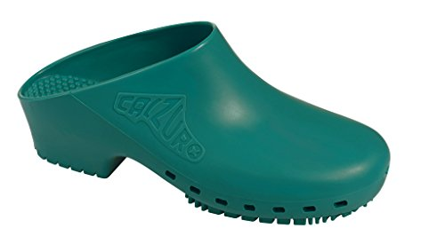 Green Mens Clogs (Calzuro Green Without Upper Ventilation Holes - 40/41 US Women's 10.0-11.0)