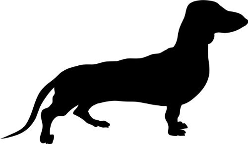 Dachshund Dog Stencil - 6 inch (at longest point) - 7.5 mil standard