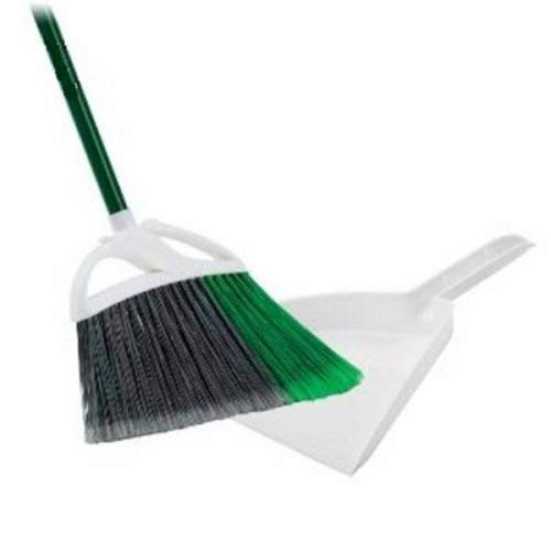 Libman Commercial 248 Large Precision Angle Broom & 10'' Dustpan - Lot of 4