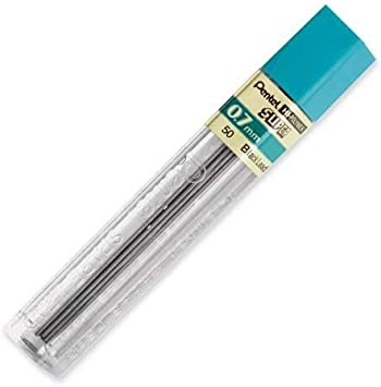24 Pentel Hi-Polymer Mechanical Pencil Leads 0.7mm HB 2 Tubes of 12