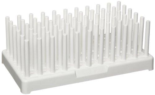 (Nalgene 5977-0017 White Polypropylene Test Tube Peg Rack for 17mm Test Tubes, White (Pack of 2))