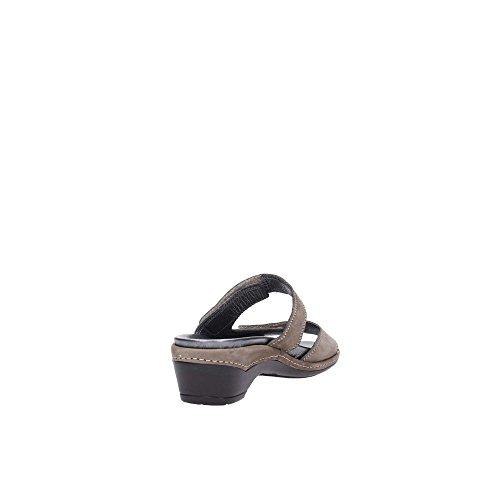 Grunland 68DORA CE0335 Pantoufle Femme Taupe N6FYySl5PB