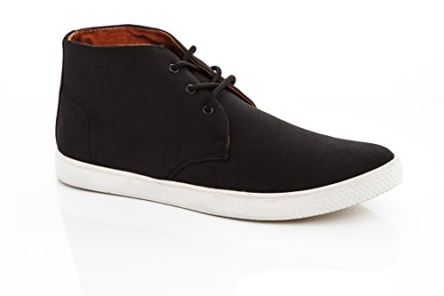 Black Suede Casual 1 up Men's Lace Leather Vegan Vanucci Chukka Shoes Fashion Chukka Franco Chucca Sneakers wZqXAaZ