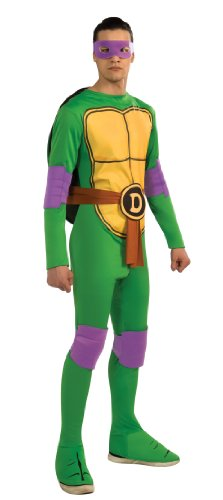 Nickelodeon Ninja Turtles Adult Donatello and Accessories, Green, x-large (Ninja Turtle Mask And Weapons)