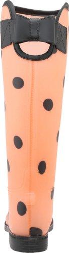 Smutstvätt Genom Kinesisk Tvätt Kvinna Royal Prickar Regn Boot, Orange / Svart, 9 M Oss