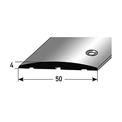 Aluminium eloxiert, mittig gebohrt Farbe: SILBER 2 x 2,7 Meter /Übergangsprofil // /Übergangsschiene // 80 mm Typ: 350