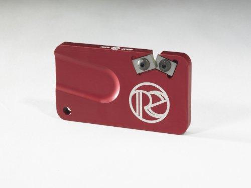 (Redi Edge Reps201 Pocket Knife Sharpener, Red)