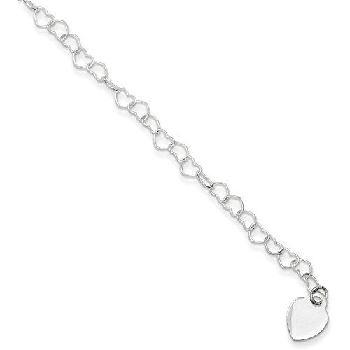 Sterling Silver Heart Fancy Li