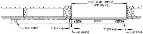 Johnson Hardware 2610 Wall Mount Barn Door Type Sliding Door Hardware 96'',Mill Aluminum by Johnson Hardware (Image #7)