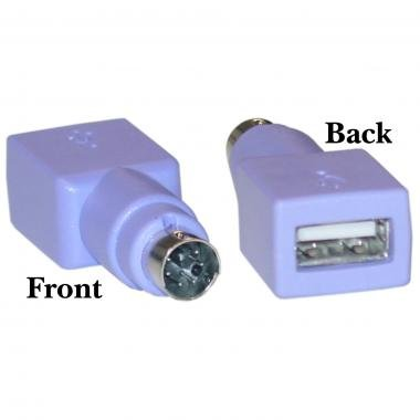 (Keyboard USB to PS2 PS/2 Adapter Converter, Purple Color )