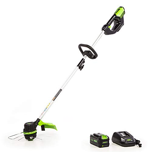 Greenworks 14-Inch 40V Brushless String Trimmer, 3AH Battery and Charger Included, ST-140