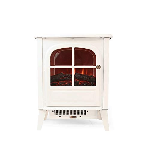Cheap RKRGQ Electric Stove Fireplaces Freestanding Electric Fireplace Heater1800W Freestanding Electric Fireplace Fire Wood Log Burning Effect Flame Heater Stove (Color : White) Black Friday & Cyber Monday 2019