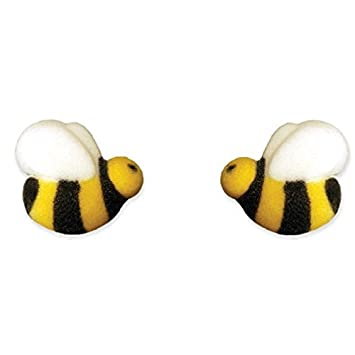 Oasis Supply Sugar Bumble Bees Cake Decorations 12 Count