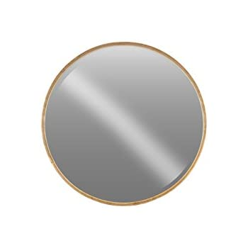 Urban Trends Metal Round Wall Mirror in Tarnished Finish, Small, Antique Rose Gold
