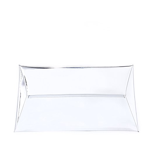 Metallic Handbag Clutch Purse Envelope MARKFRAN Wedding Cocktail Party Evening Clutch Bag Silver SHAUxAqZ